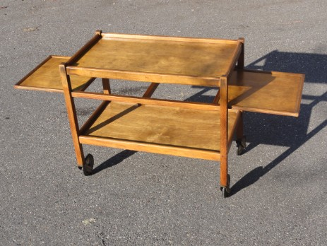 swiss design modernism haefely tea trolley
