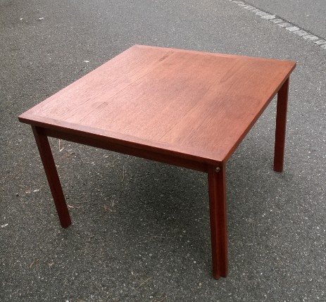 danish design teak club table fredericia 301 fifties sixties