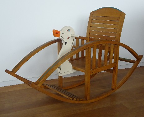 Torck children rocking horse swan wood toy